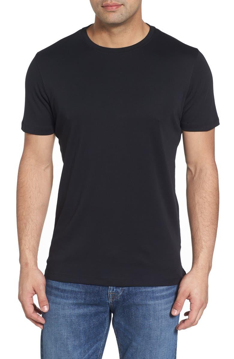 ROBERT BARAKETT Georgia Crewneck T-Shirt, Main, color, BLACK
