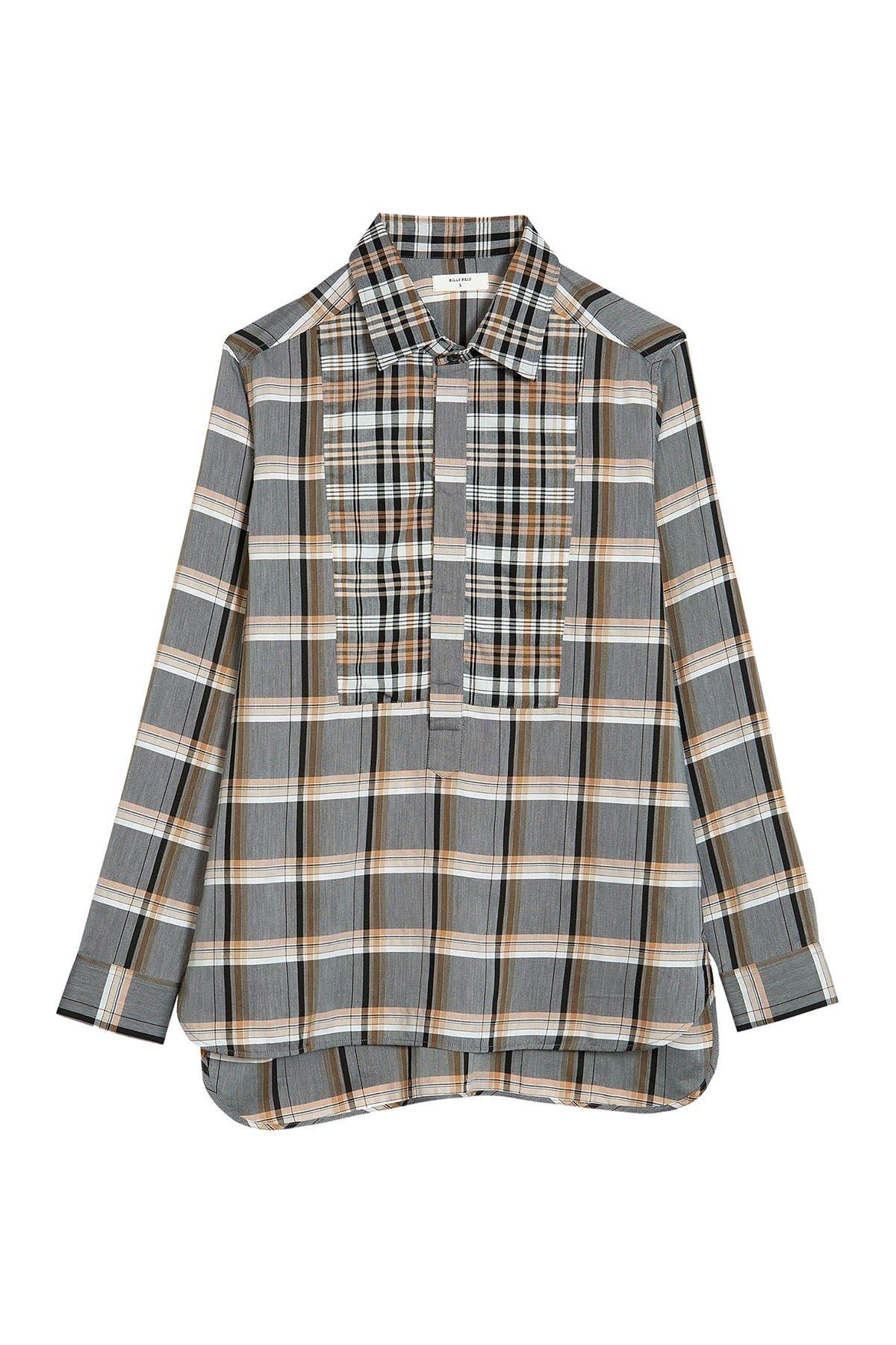 Image of Billy Reid Paneled Popover Shirt