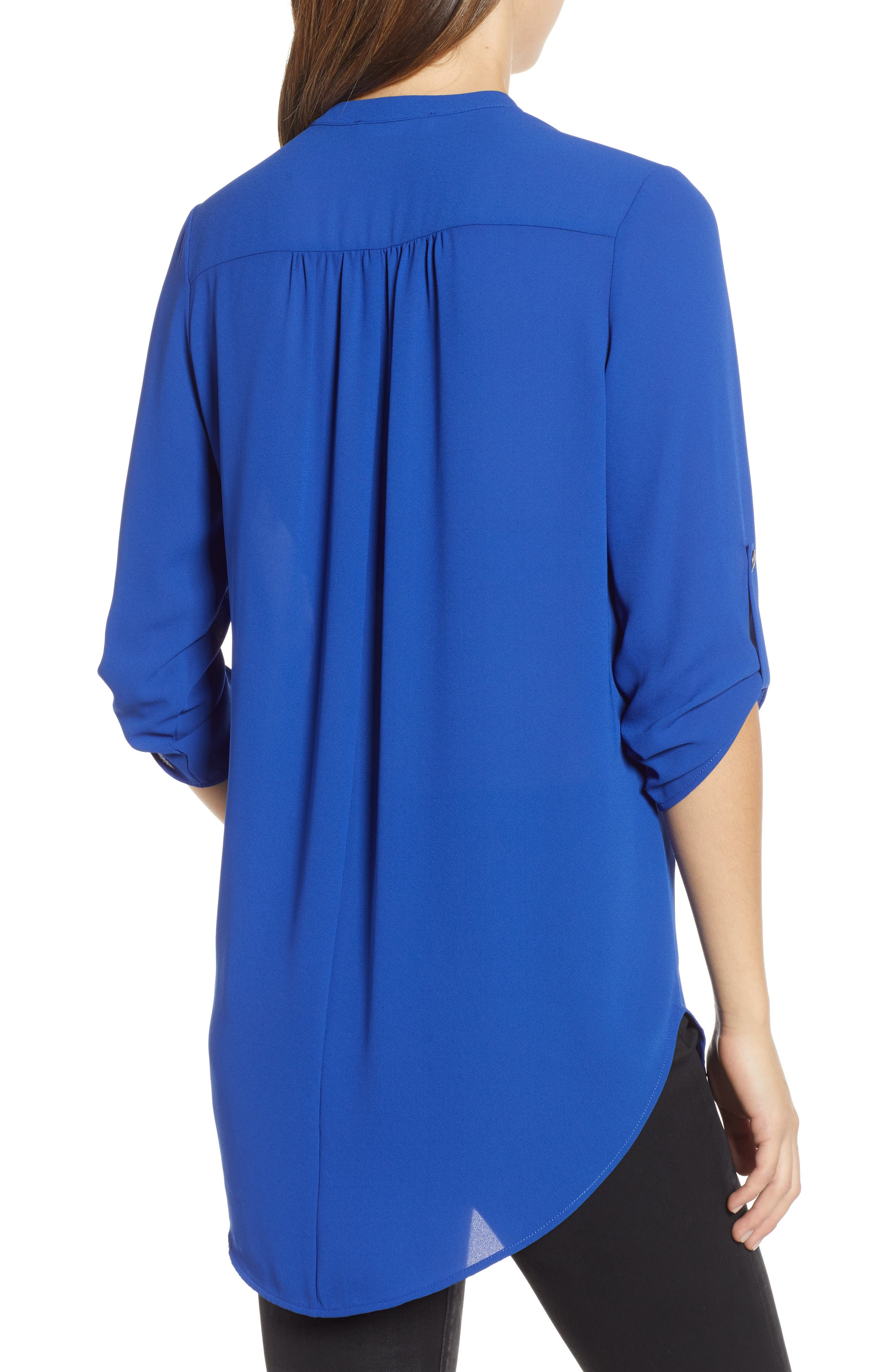 ,                             Perfect Roll Tab Sleeve Tunic,                             Alternate thumbnail 7, color,                             416