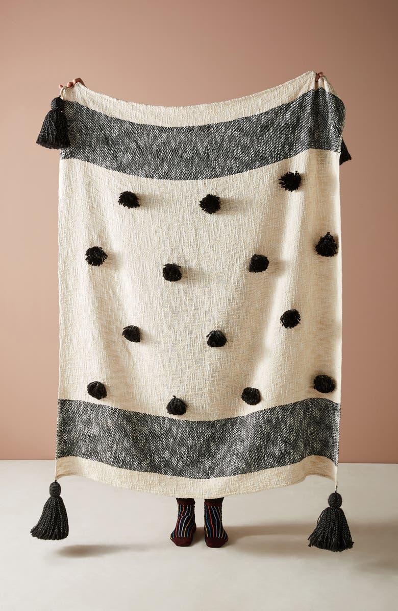 ANTHROPOLOGIE HOME Hazel Throw Blanket, Main, color, ASSORT