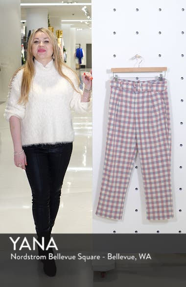 Gingham Check Belted Trousers, sales video thumbnail