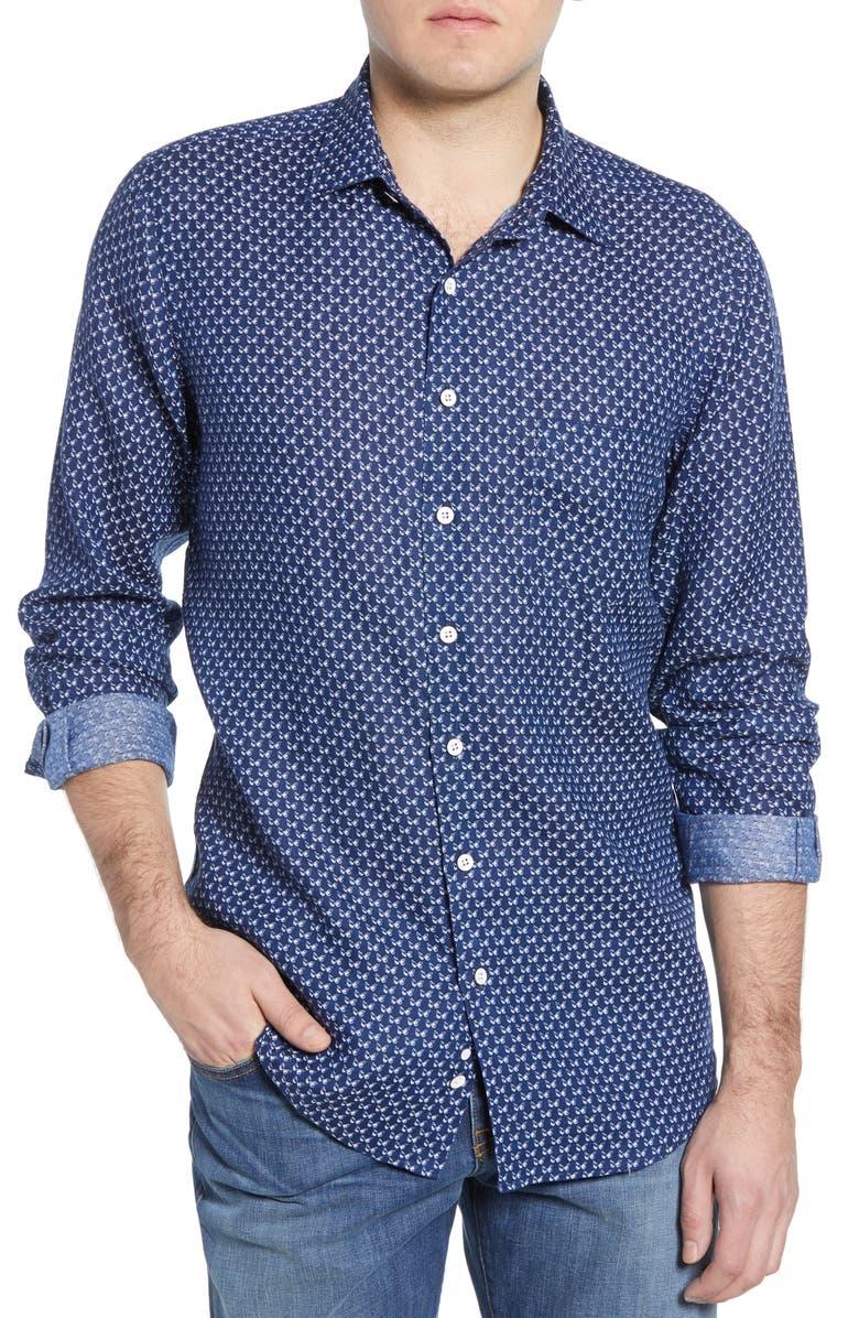 RODD & GUNN East Bay Regular Fit Linen Button-Up Shirt, Main, color, 410