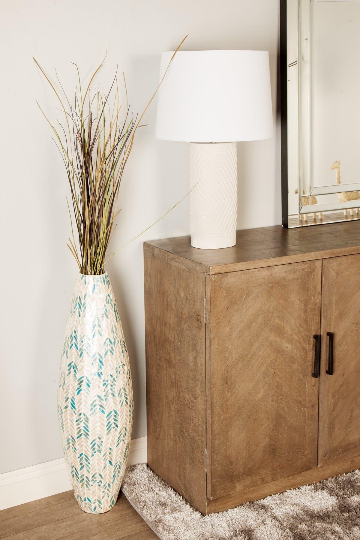 "Image of Willow Row Multi Colored Bamboo Coastal Vase - 34"" x 11"" x 11"""