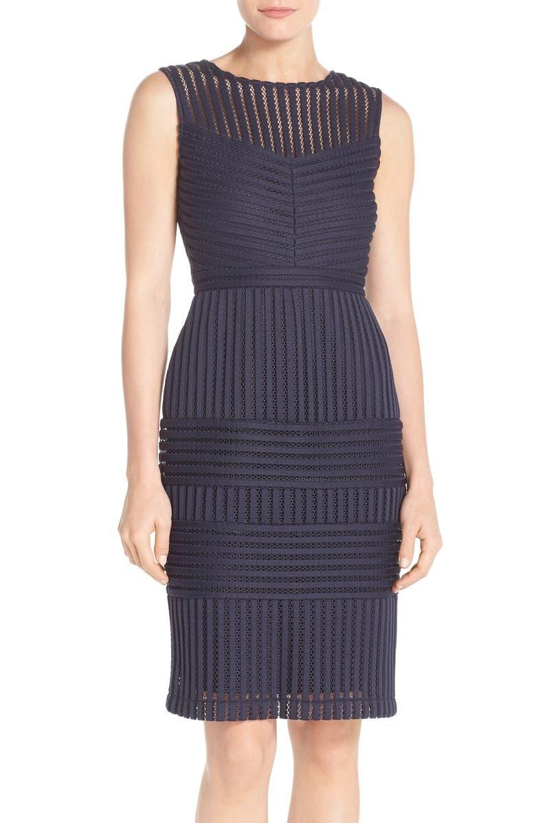 GABBY SKYE Mesh Scuba Body-Con Dress, Main, color, 410