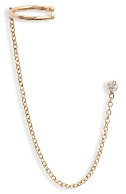 ZOË CHICCO CHAINED STUD & EAR CUFF
