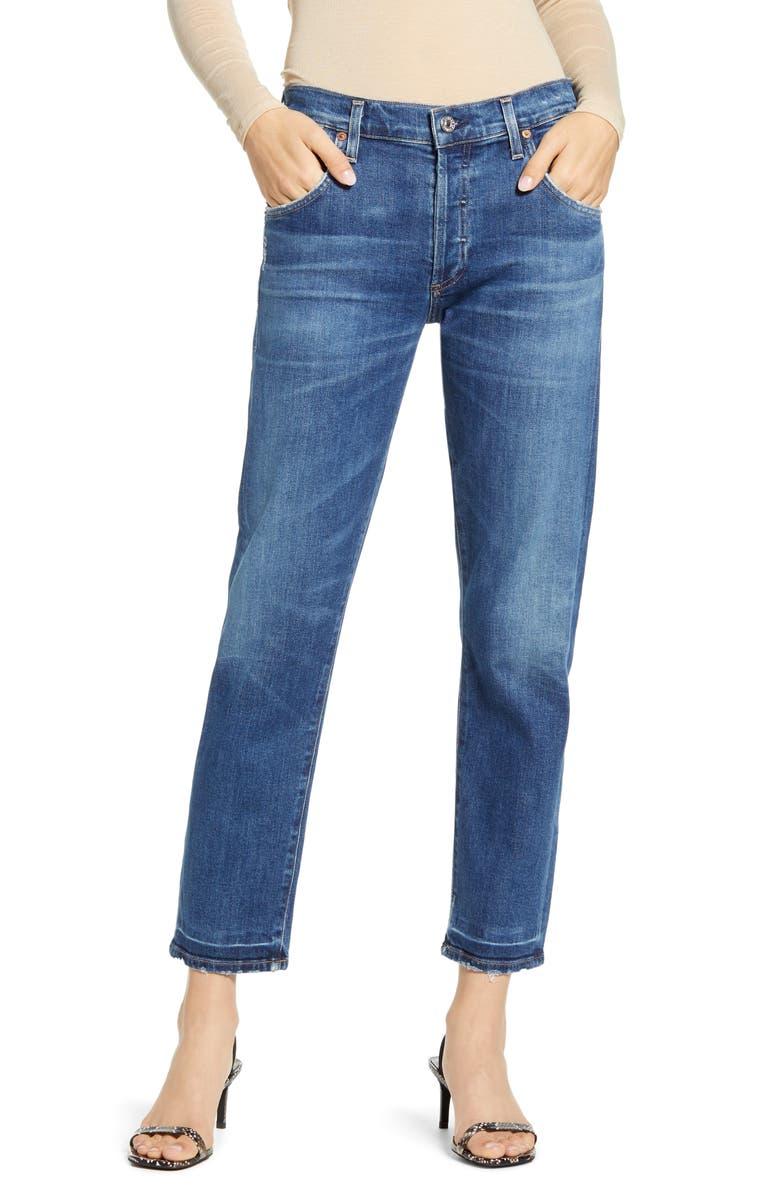 CITIZENS OF HUMANITY Emerson Slim Boyfriend Jeans, Main, color, SANTIAGO