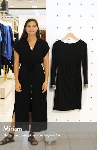 Crystal Cuff Drape Back Dress, sales video thumbnail