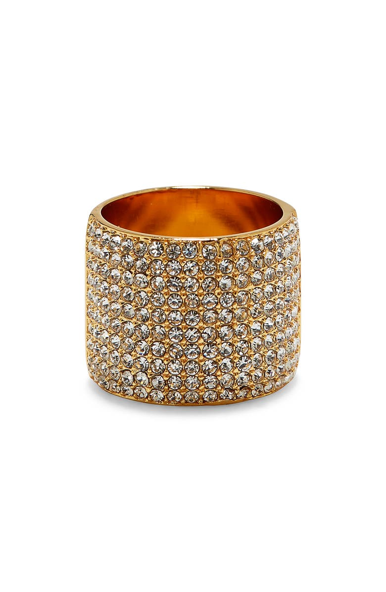 VINCE CAMUTO Pavé Cigar Band Ring, Main, color, GOLD