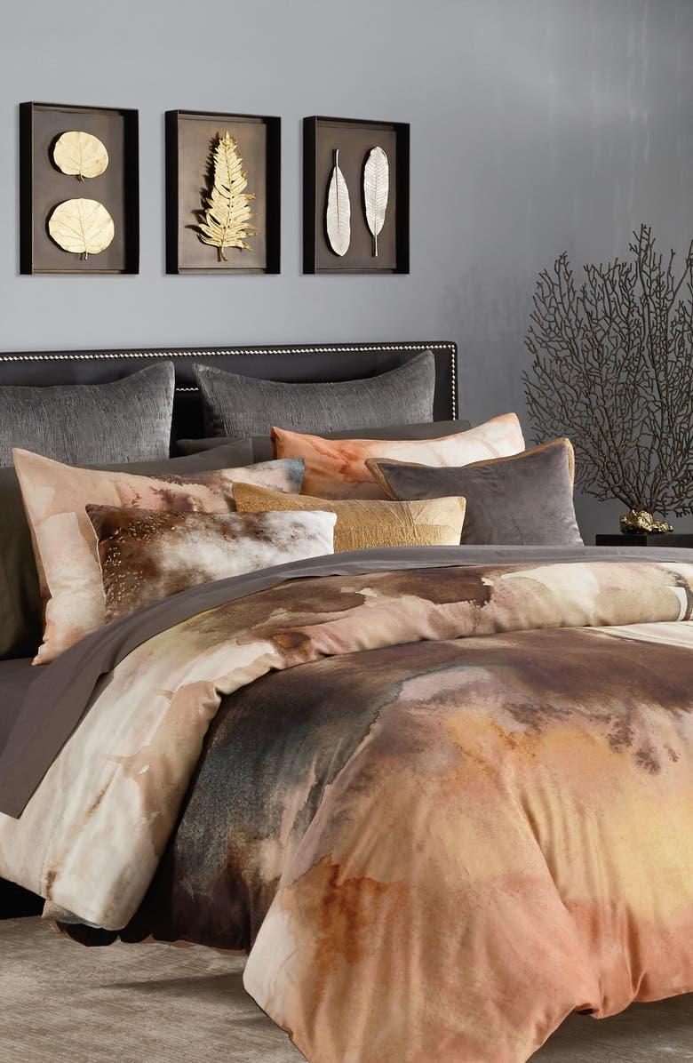 MICHAEL ARAM Metamorphosis Duvet Cover, Main, color, GREY MULTI