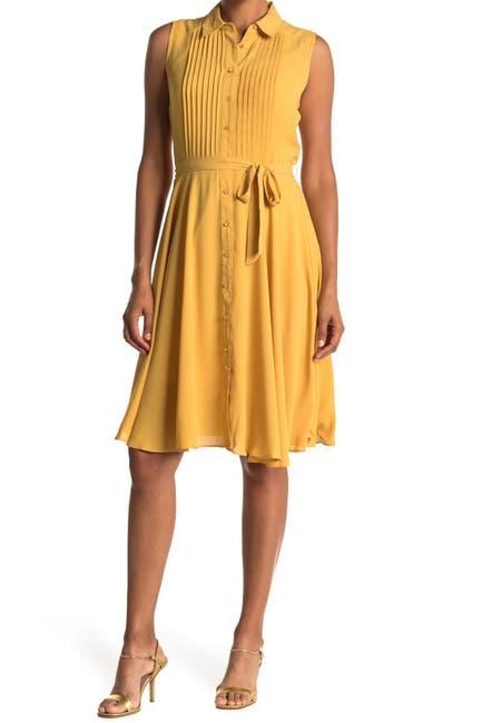 Image of NANETTE nanette lepore Sleeveless Pintuck Pleat Midi Dress