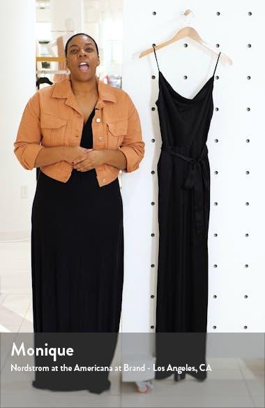 Rannah Cowl Neck Silk Satin Jumpsuit, sales video thumbnail