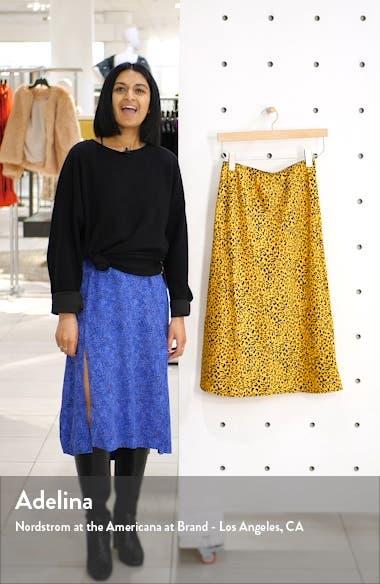 Satin Midi Skirt, sales video thumbnail