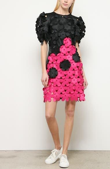 Laser Cut Floral Appliqué Dress, video thumbnail