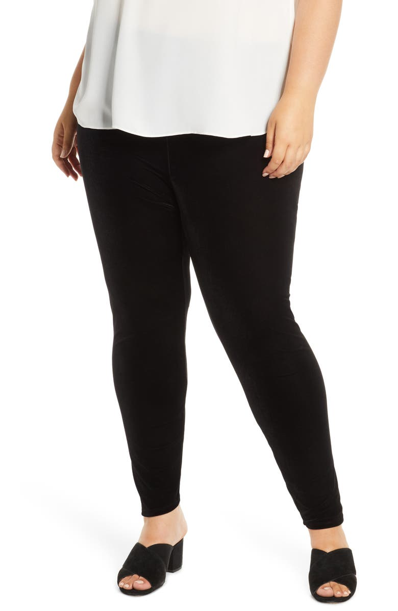 EILEEN FISHER Ankle Leggings, Main, color, 001