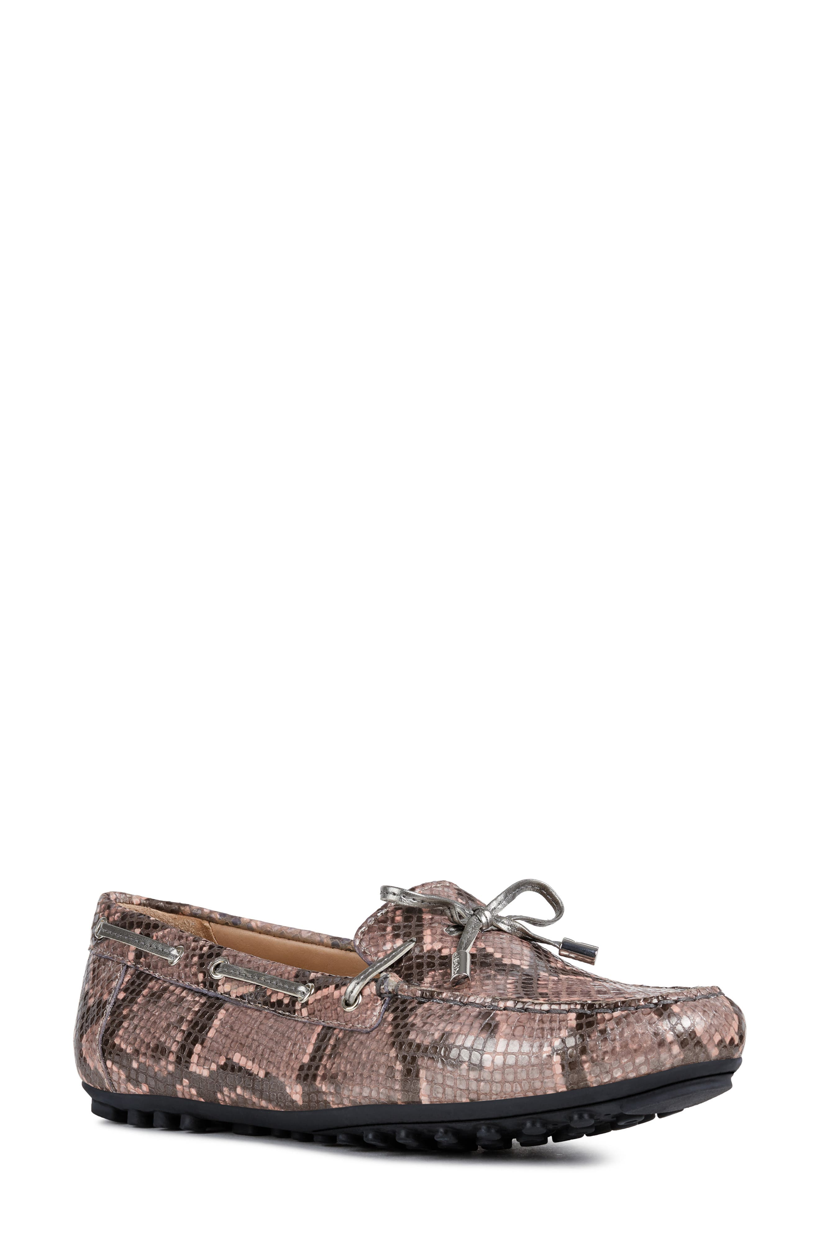 Geox Leelyan Leather Loafer, Pink