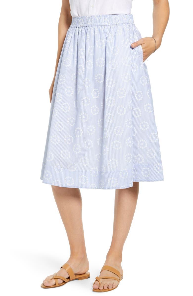 1901 Stripe Eyelet Full Skirt, Main, color, 450