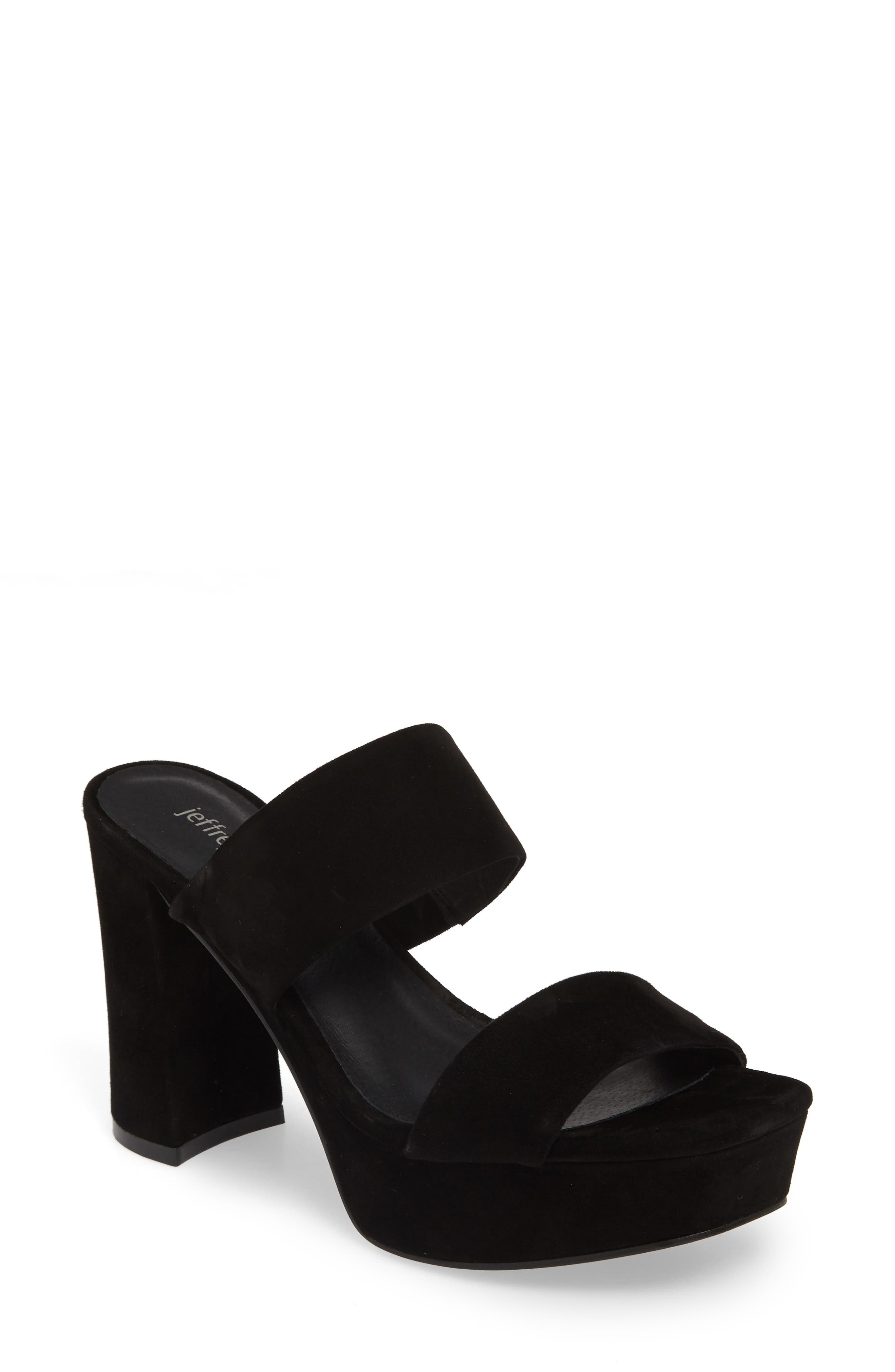 Adriana-2 Platform Slide Sandal, Main, color, BLACK SUEDE