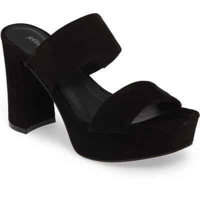 Jeffrey Campbell Adriana-2 Platform Slide Sandal, Black