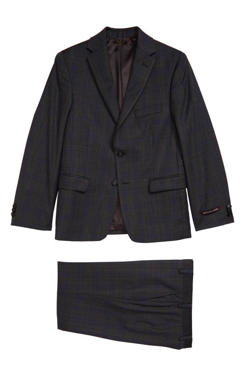 MICHAEL KORS Nested Plaid Suit, Main, color, 020