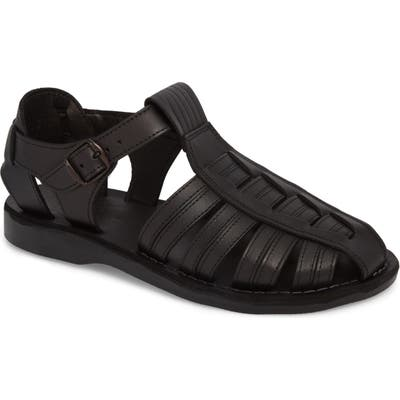 Jerusalem Sandals Barak Fisherman Sandal - Black