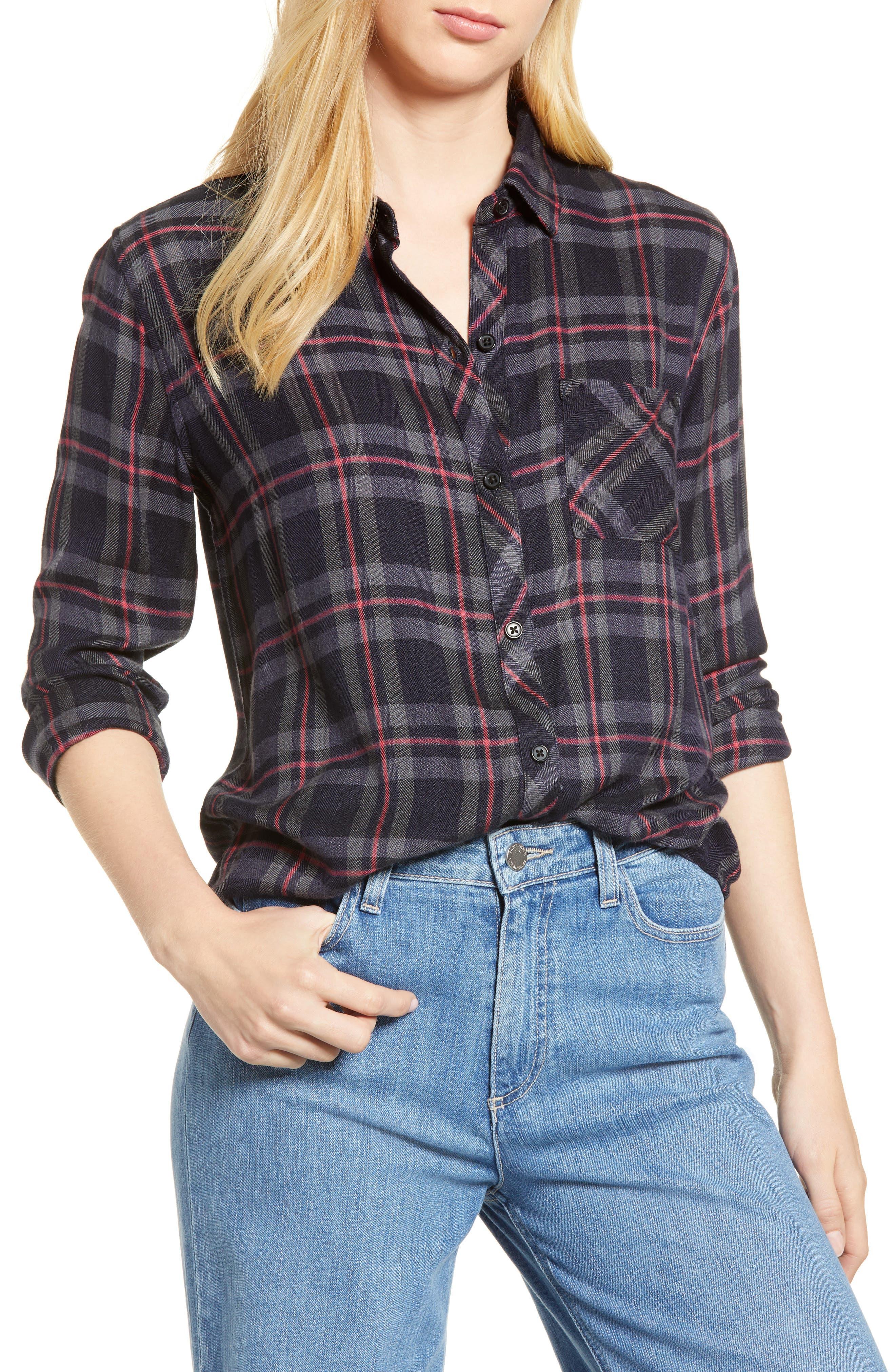 ,                             Hunter Plaid Shirt,                             Main thumbnail 537, color,                             022