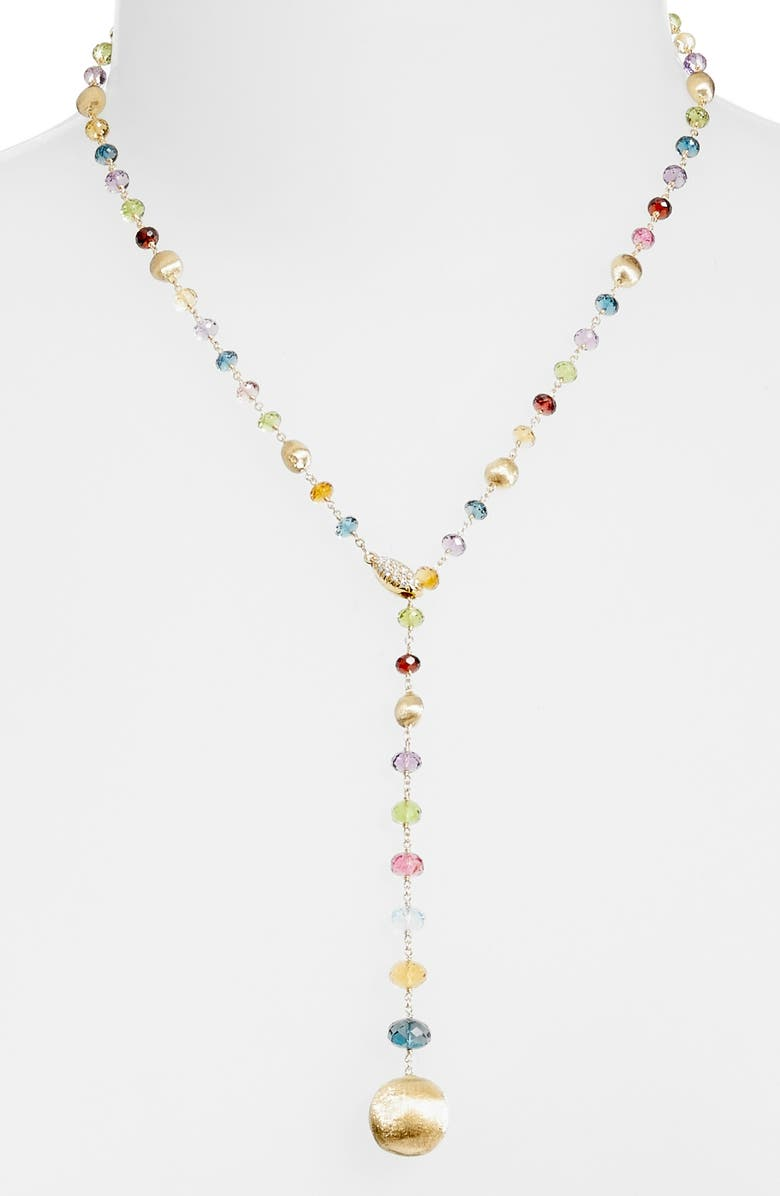 MARCO BICEGO Africa Semiprecious Stone Lariat Necklace, Main, color, 710