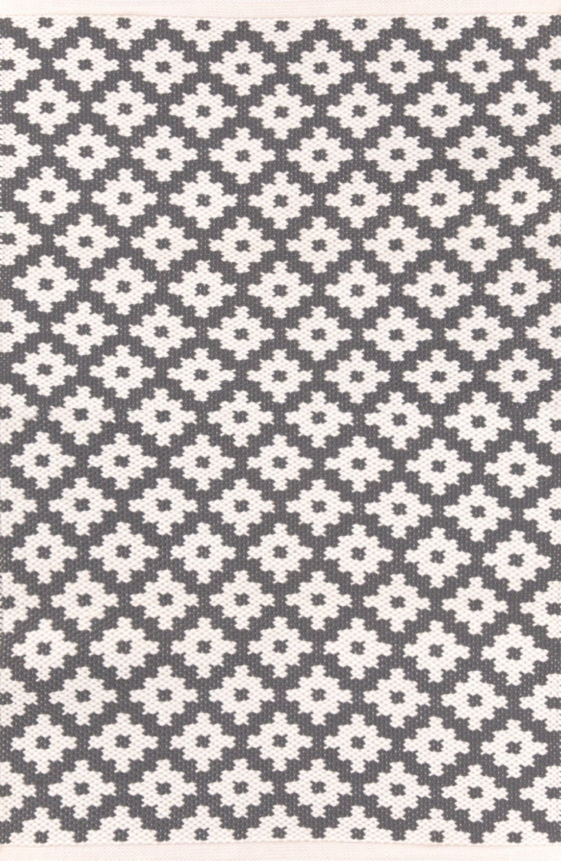 'Samode' Indoor/Outdoor Rug, Main, color, GRAPHITE/ IVORY