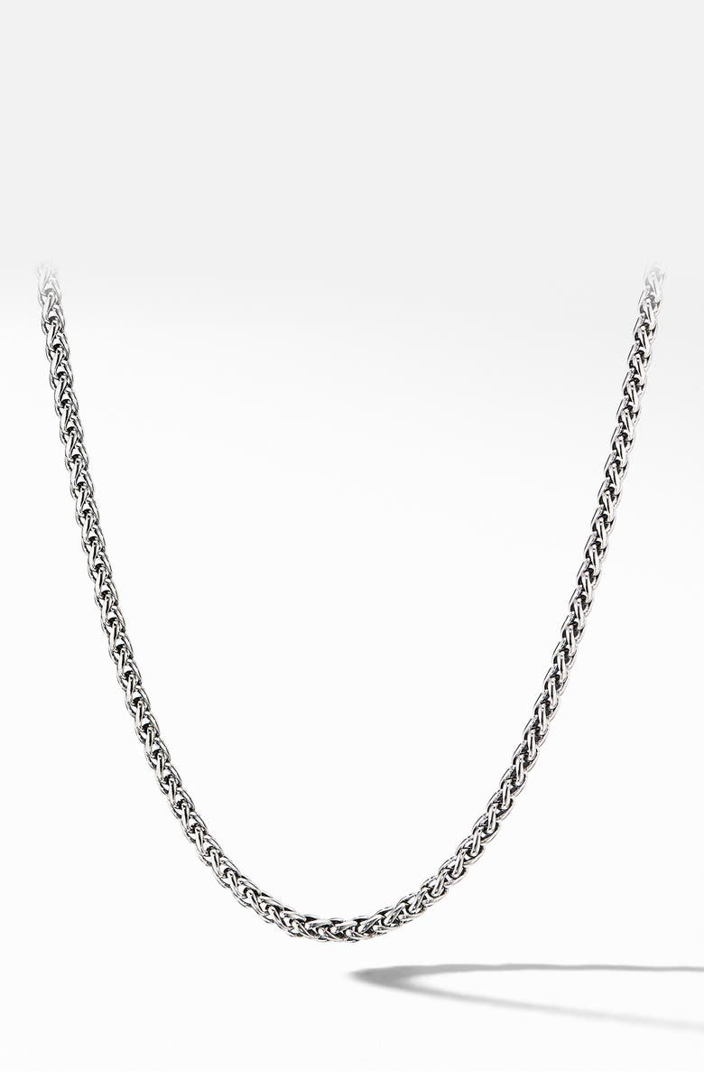 DAVID YURMAN Wheat Chain Necklace, Main, color, SILVER