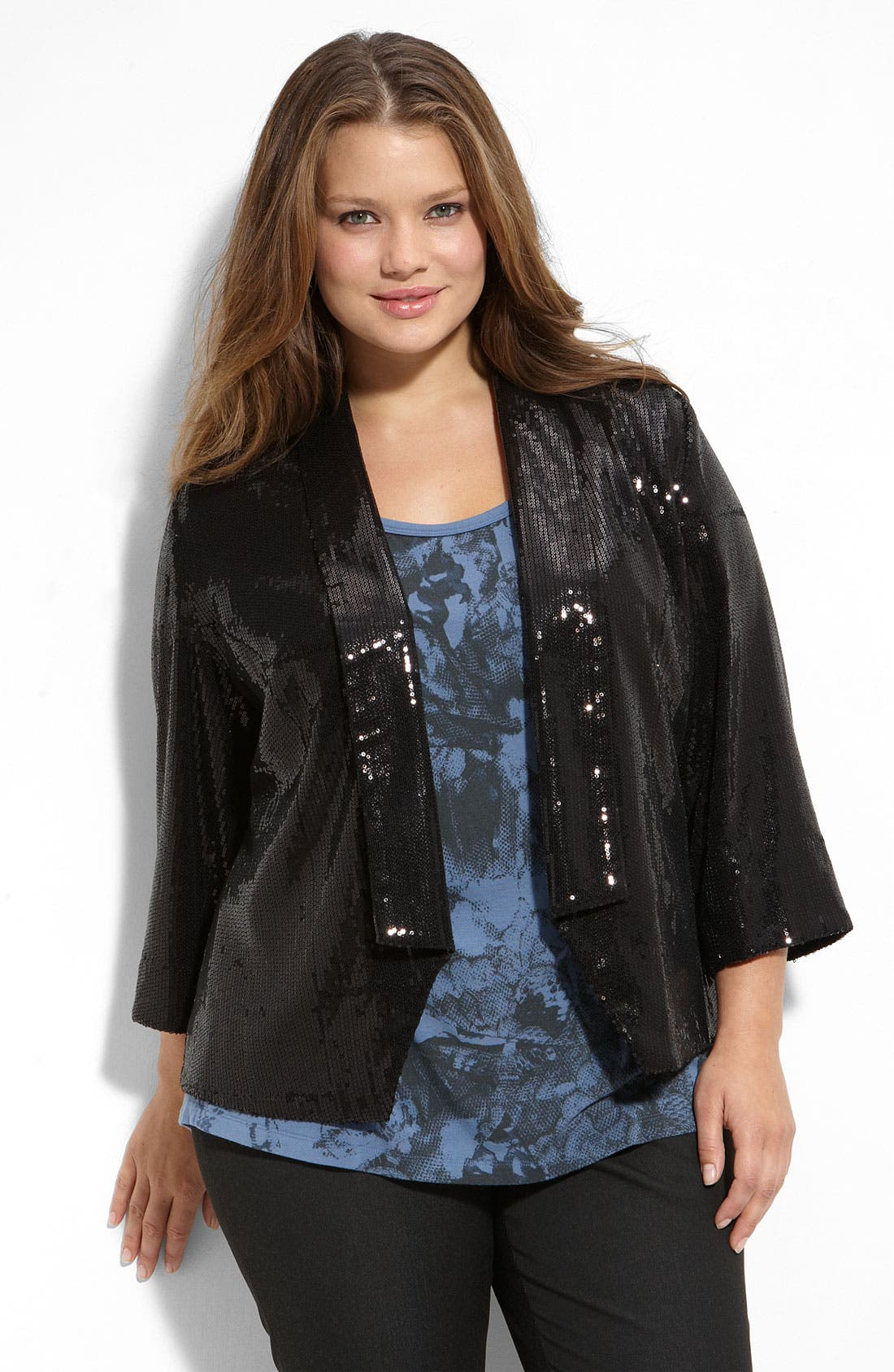 ,                             Sequin Waiter Jacket,                             Main thumbnail 1, color,                             001