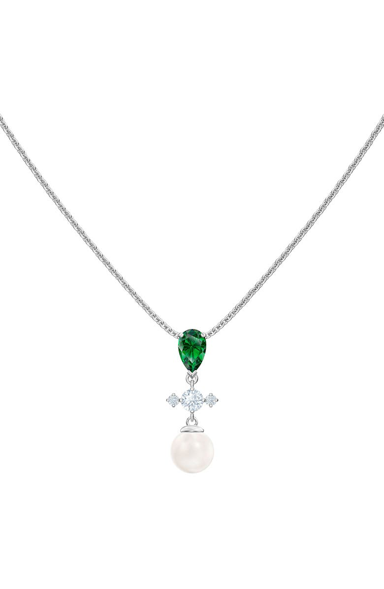 SWAROVSKI Perfection Imitation Pearl Pendant Necklace, Main, color, 040
