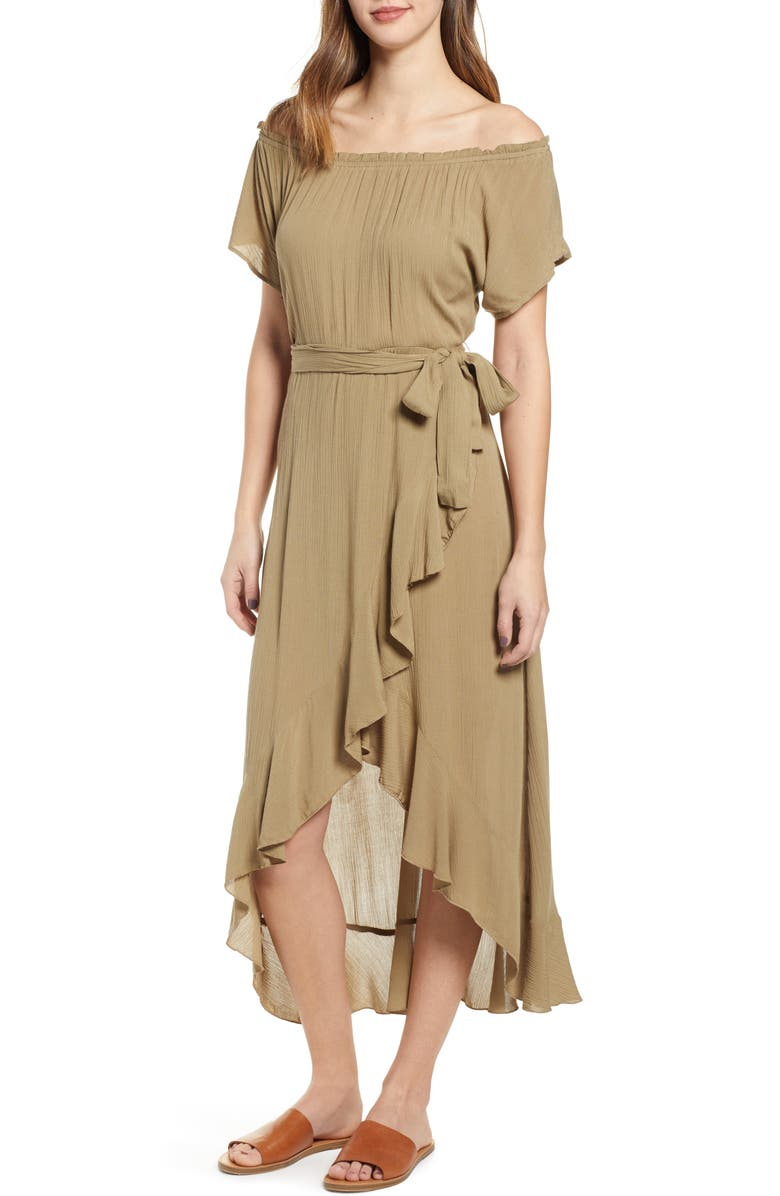 O'NEILL Connie Off the Shoulder Midi Dress, Main, color, 300