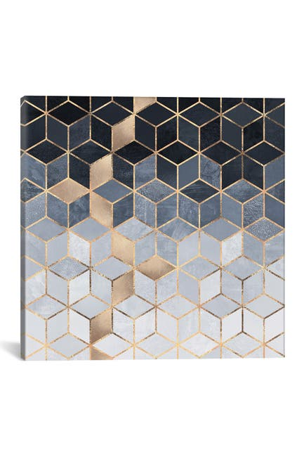 Image of iCanvas Soft Blue Cubes by Elisabeth Fredriksson Wall Art