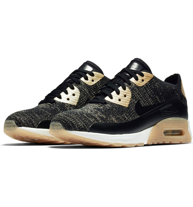 Classic Womens Nike Air Max 90 Ultra 2.0 Casual Shoes Gold