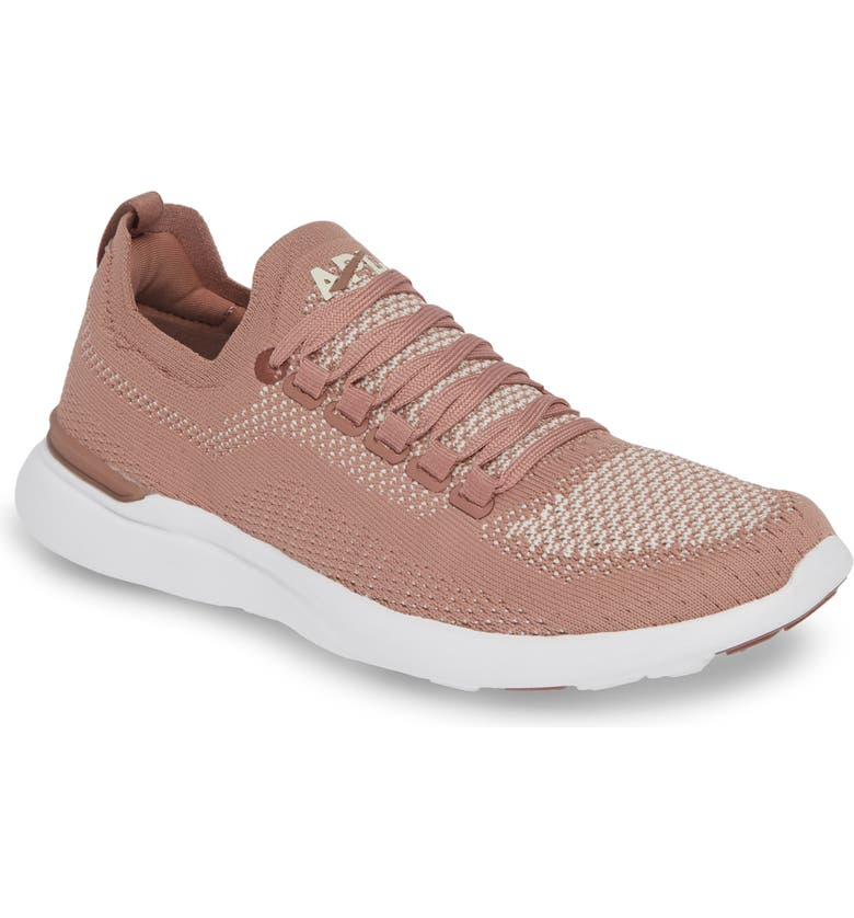 APL TechLoom Breeze Knit Running Shoe, Main, color, BEACHWOOD/ PRISTINE/ WHITE