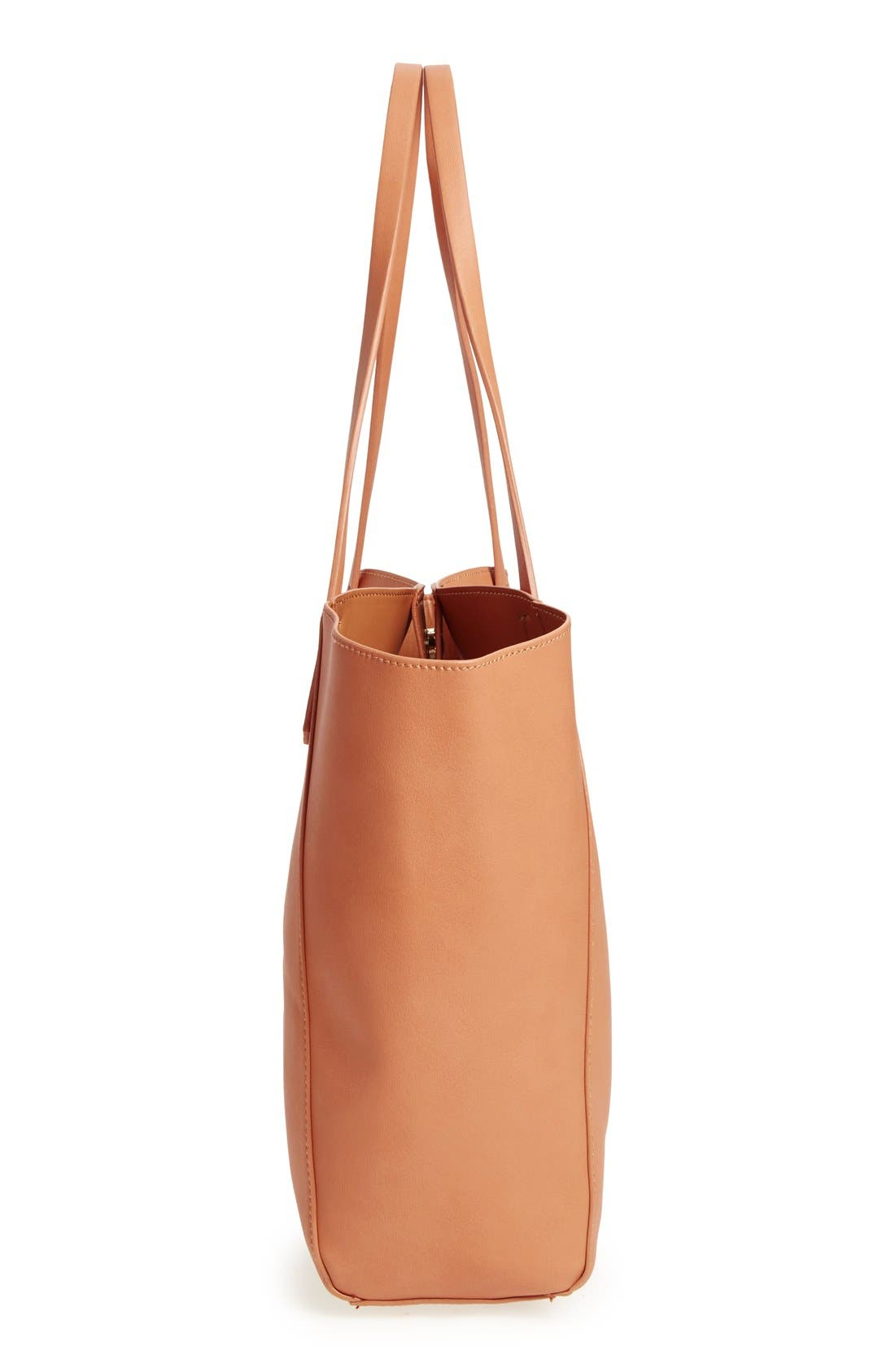 ,                             Colorblock Faux Leather Tote,                             Alternate thumbnail 17, color,                             210