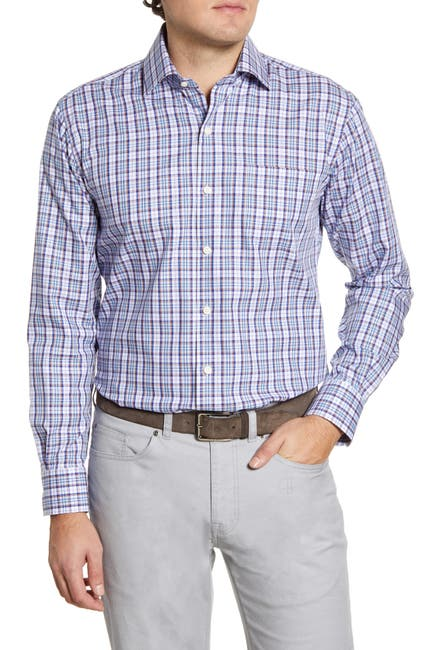Image of Peter Millar Alister Plaid Regular Fit Sport Shirt