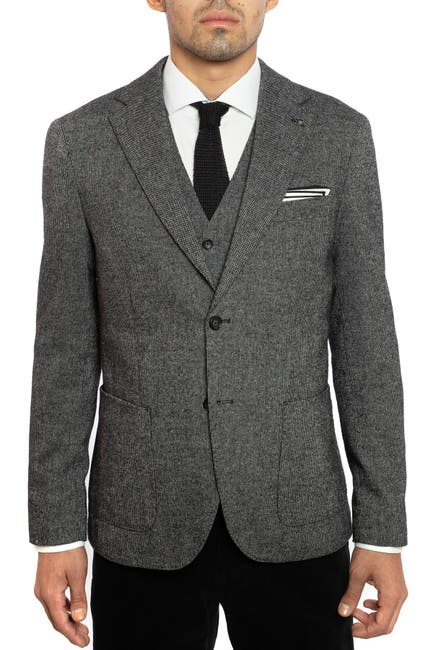 Image of Joe's Jeans Donegal Tweed Elbow Patch Slim Fit Suit Separate Jacket