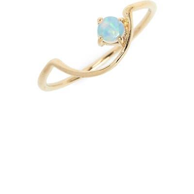 Wwake Offset Opal Arc Ring