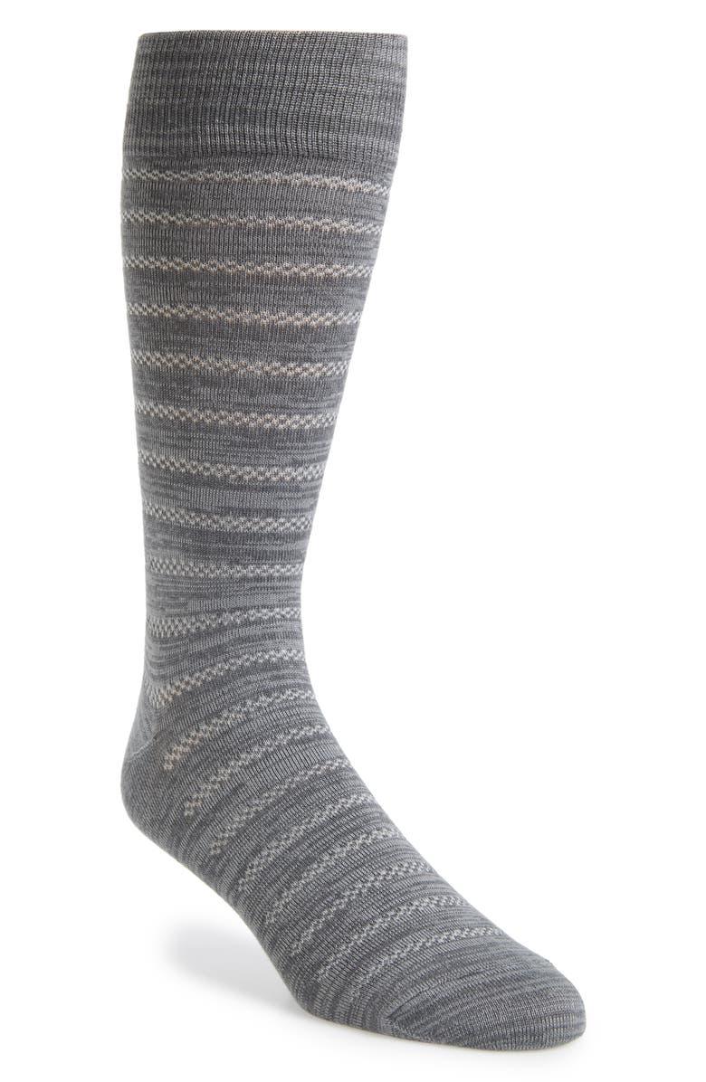 NORDSTROM MEN'S SHOP Mini Stripe Ultrasoft Socks, Main, color, 030
