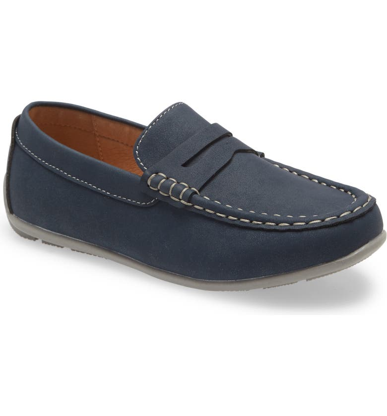 1901 Marcus Loafer, Main, color, NAVY FAUX LEATHER