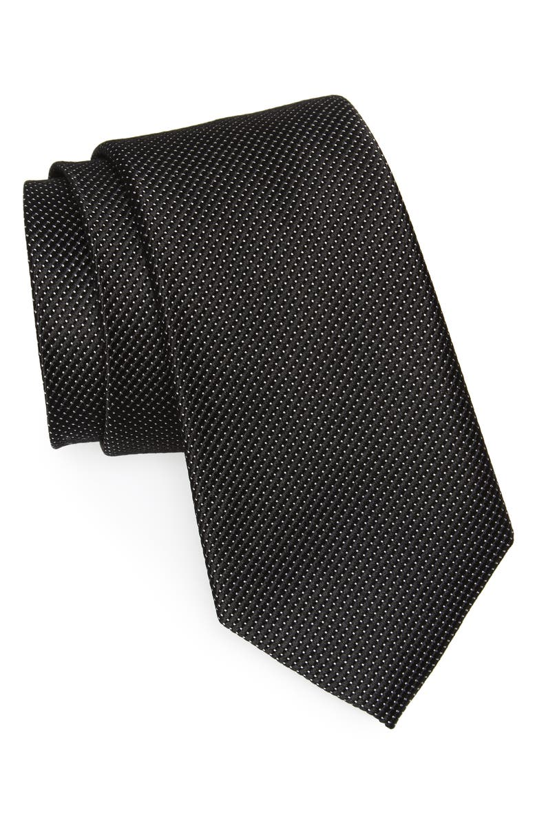 NORDSTROM MEN'S SHOP Vendôme Dot Silk Tie, Main, color, 001