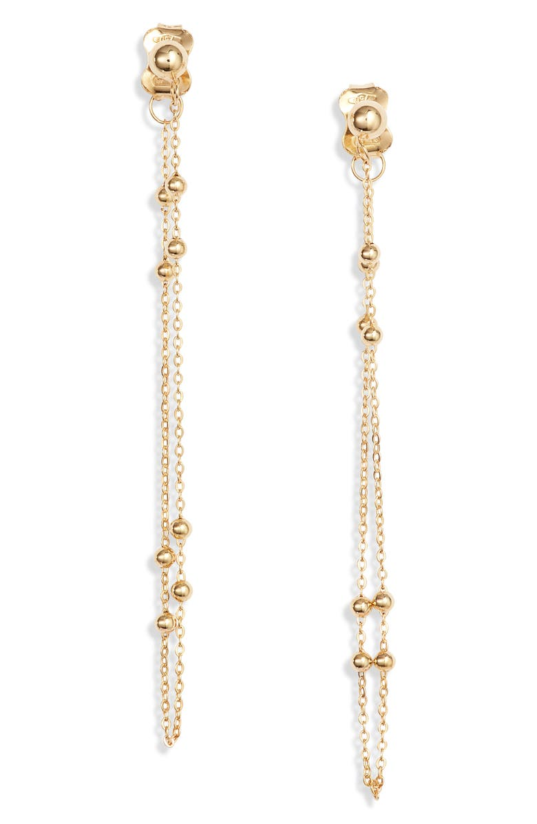 BONY LEVY Chain Loop Earrings, Main, color, YELLOW GOLD