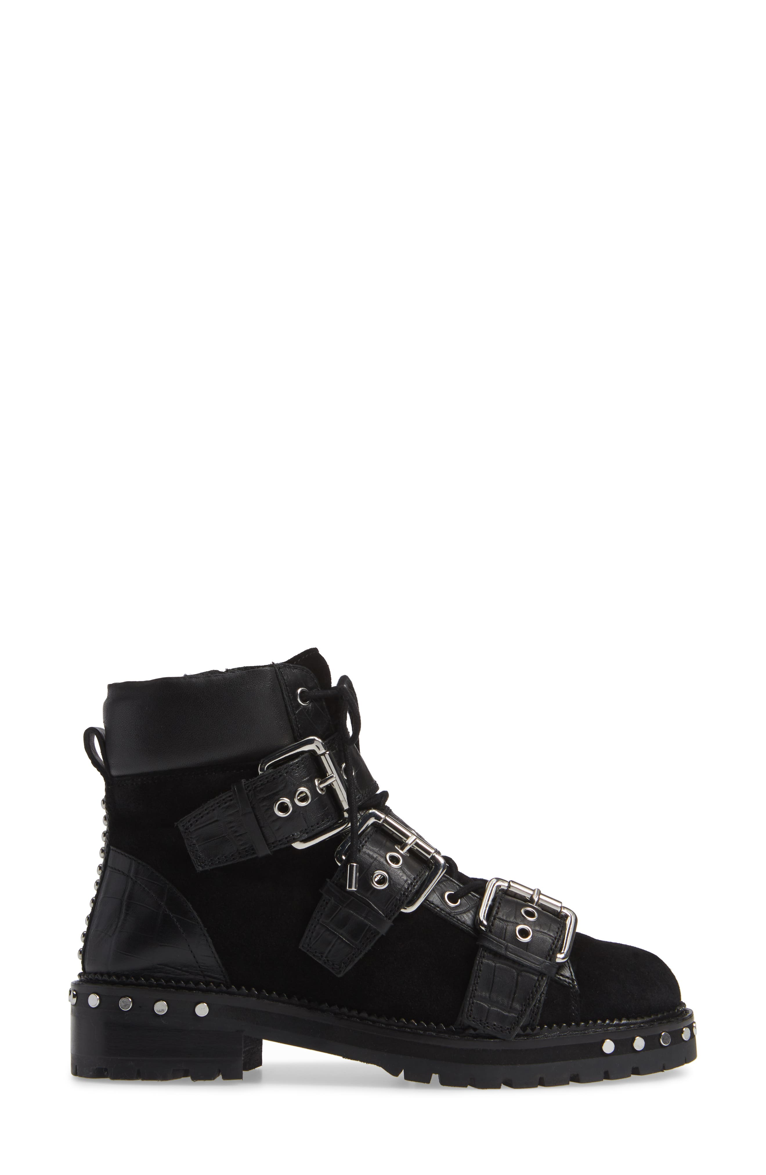 ,                             Animal Studded Boot,                             Alternate thumbnail 3, color,                             001