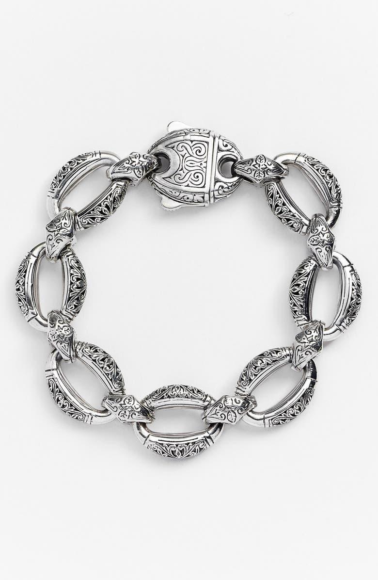 KONSTANTINO 'Classics - Daphne' Link Bracelet, Main, color, SILVER