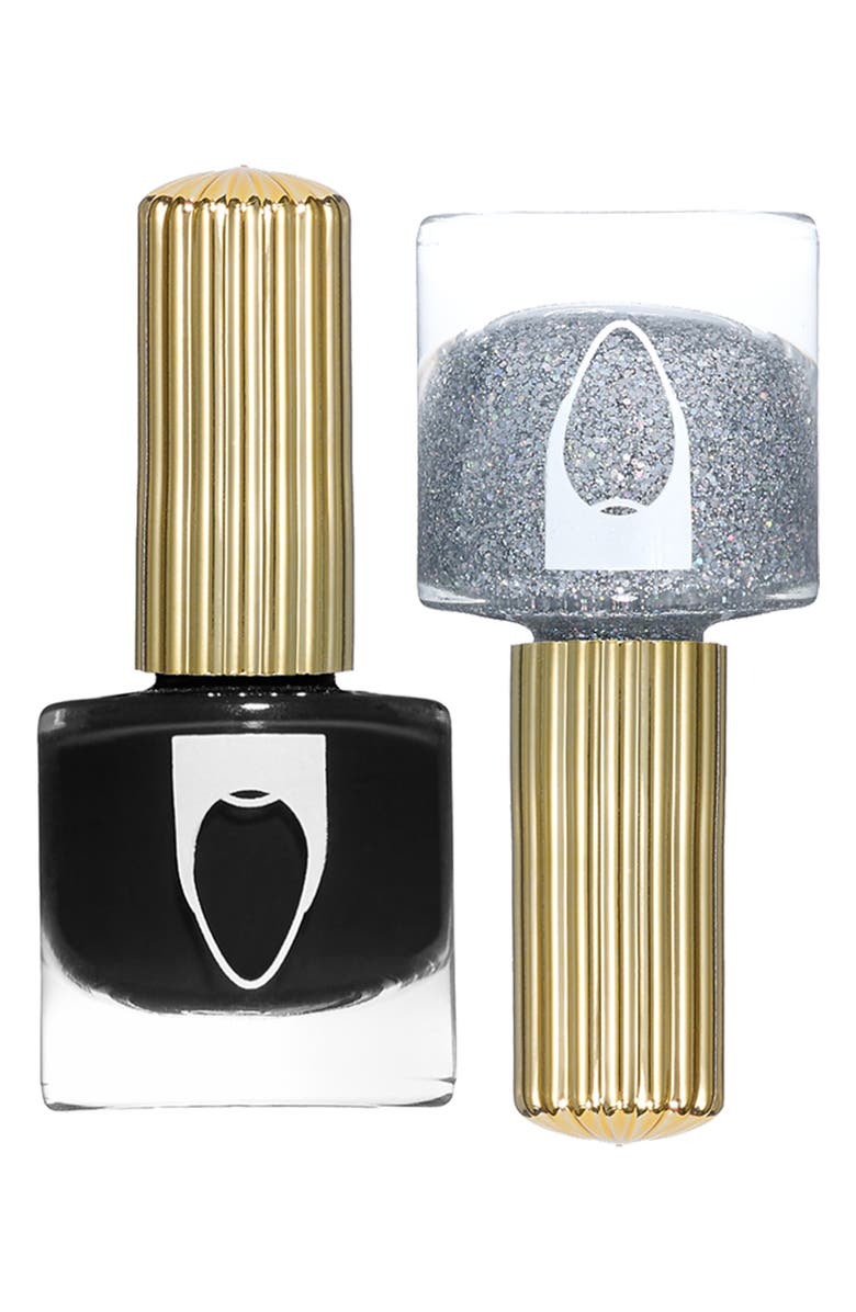 FLOSS GLOSS Pro Nail Lacquer Set, Main, color, BLACK HOLY/ DIME PIECE