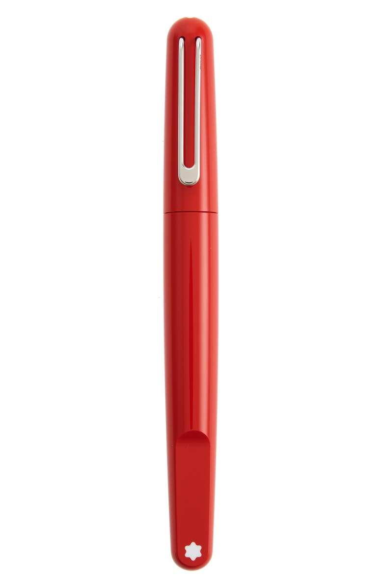 MONTBLANC (Montblanc M)RED Resin Ballpoint Pen, Main, color, RED