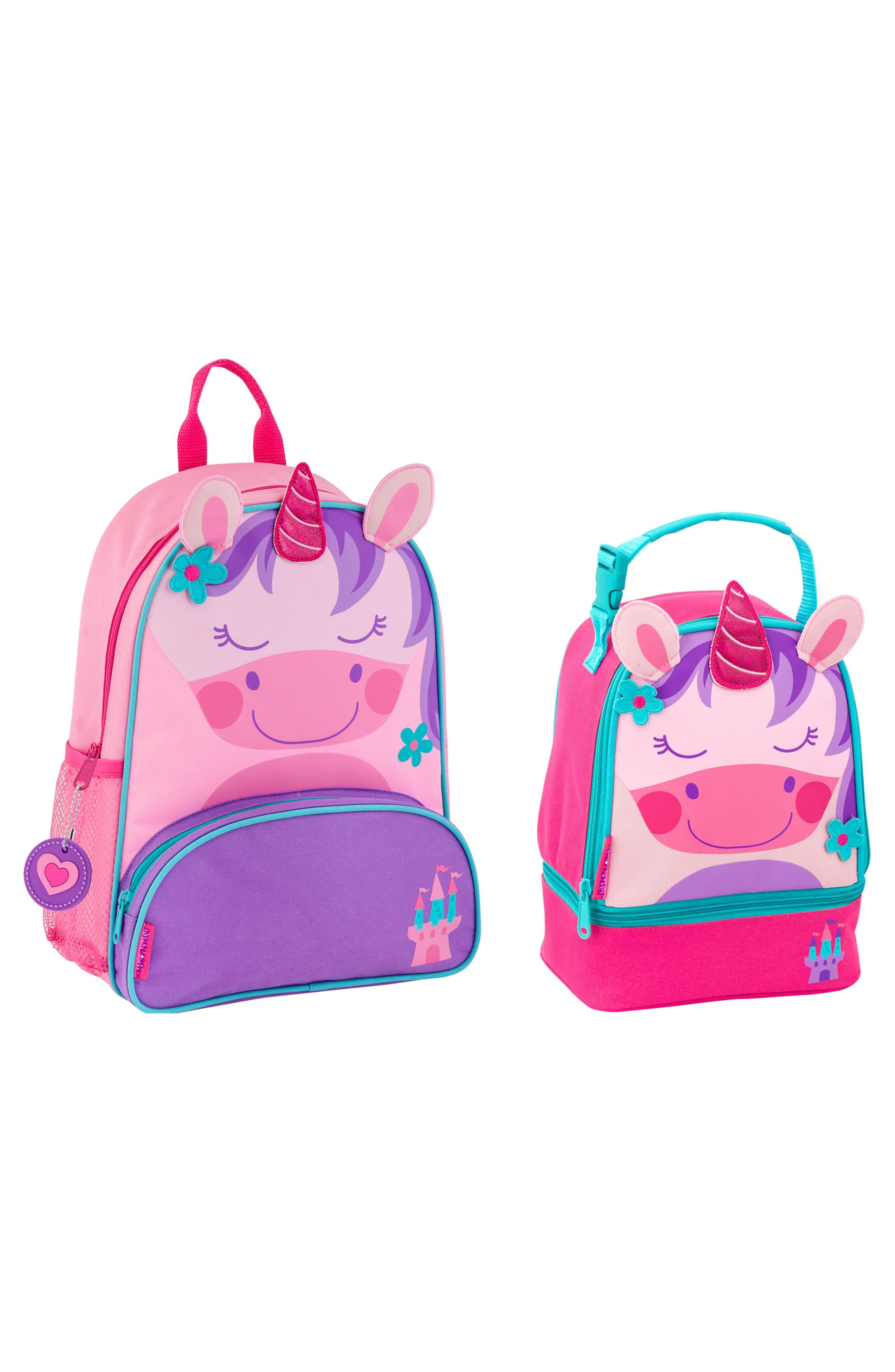 Girls Stephen Joseph Mermaid Sidekick Backpack  Lunch Pal  Purple