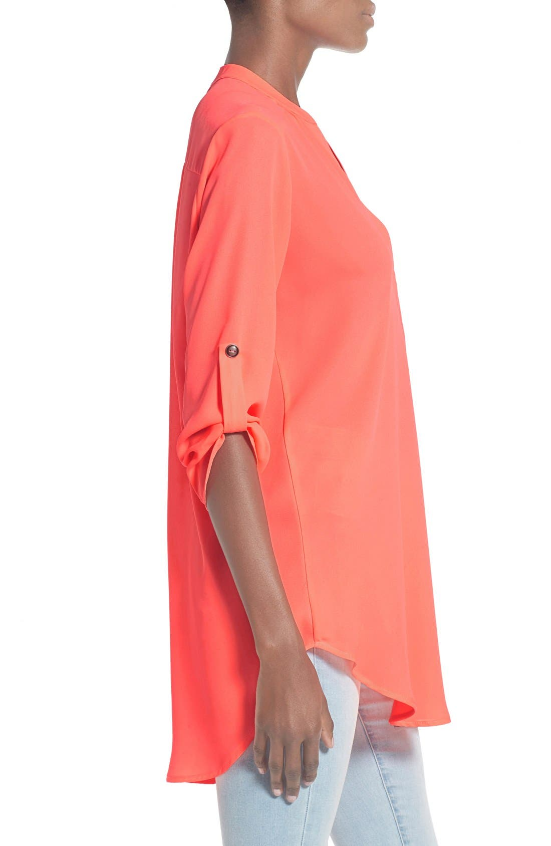 ,                             Perfect Roll Tab Sleeve Tunic,                             Alternate thumbnail 387, color,                             673