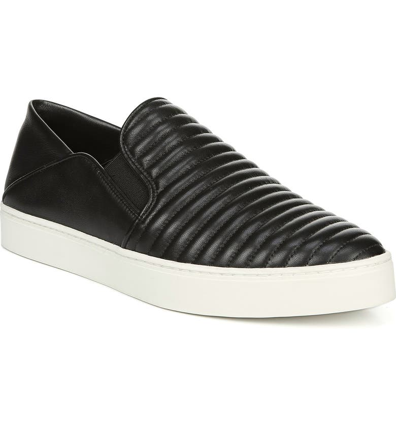 VINCE Garvey 3 Slip-On Sneaker, Main, color, BLACK