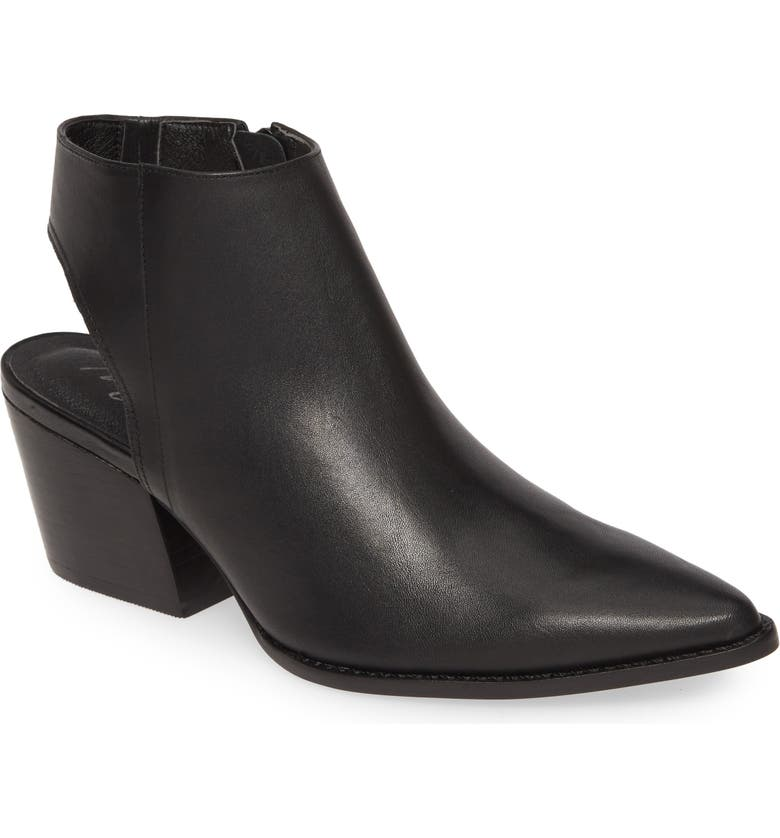 MATISSE Odie Cutout Pointed Toe Boot, Main, color, BLACK LEATHER